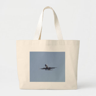Landing Into The Sun Large Tote Bag