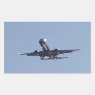 Landing Into The Sun Rectangular Sticker