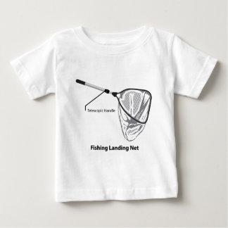 Landing net for fishing illustration marked baby T-Shirt