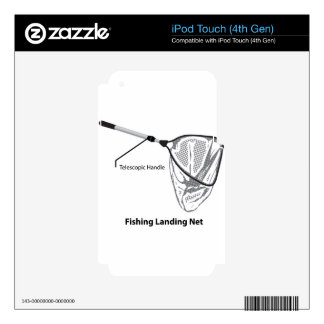 Landing net for fishing illustration marked decals for iPod touch 4G