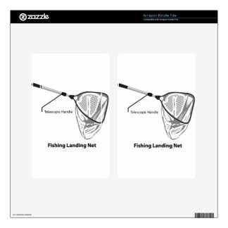 Landing net for fishing illustration marked kindle fire decals