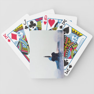 Landing of a Space Shuttle Deck Of Cards