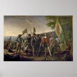 Landing of Columbus Poster