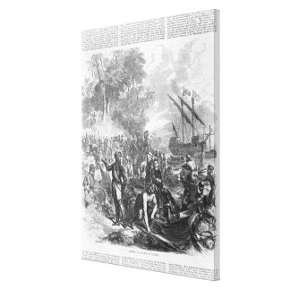 Landing of De Soto in Florida Canvas Print