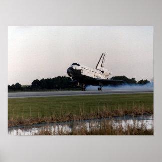 Landing of Space Shuttle Atlantis STS-79 Poster