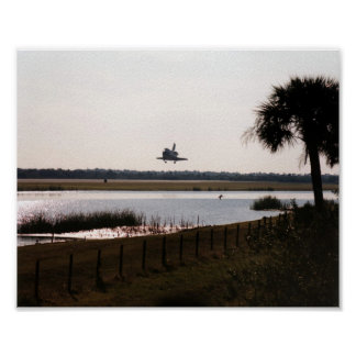 Landing of Space Shuttle Atlantis (STS-81) Poster