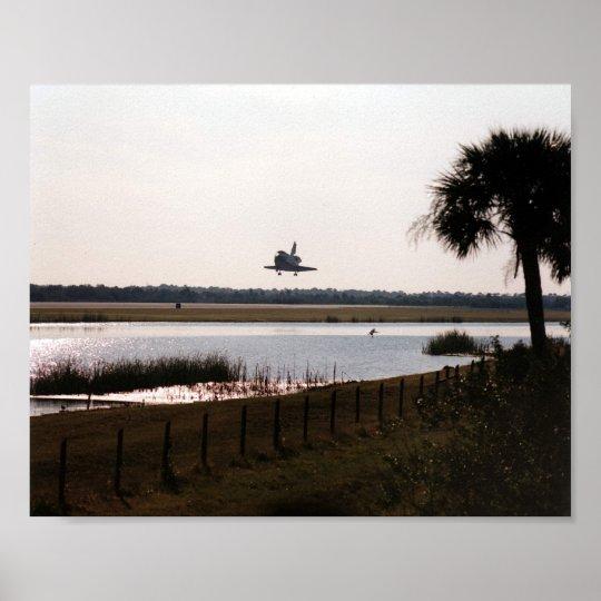 Landing of Space Shuttle Atlantis (STS-81) Poster
