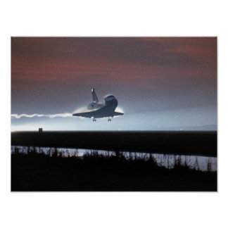 Landing of Space Shuttle Columbia (STS-80) Poster