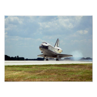 Landing of Space Shuttle Discovery (STS-91) Poster