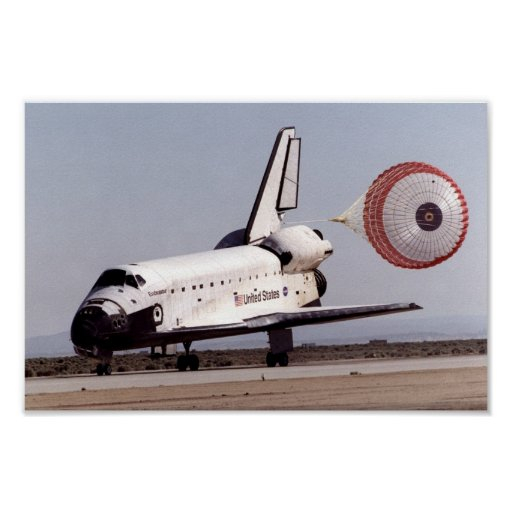 Landing of Space Shuttle Endeavour (STS-100) Poster