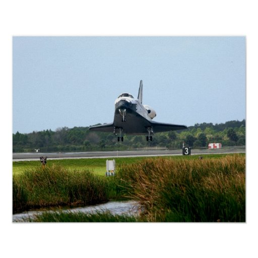 Landing of Space Shuttle Endeavour (STS-108) Posters