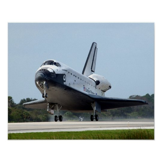 Landing of Space Shuttle Endeavour (STS-108) Poster