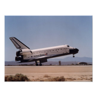 Landing of Space Shuttle Endeavour (STS-111) Poster