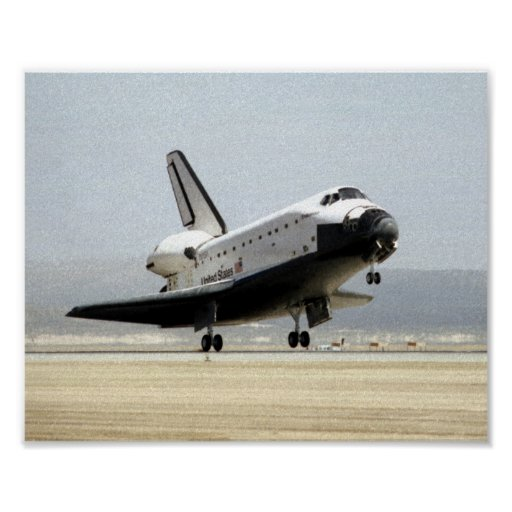Landing of Space Shuttle Endeavour (STS-67) Poster