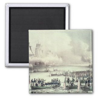 Landing of the American Force at Vera Cruz 2 Inch Square Magnet