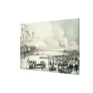 Landing of the American Force at Vera Cruz Canvas Print