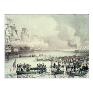 Landing of the American Force at Vera Cruz Postcard