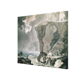 Landing of the Conspirators Canvas Print