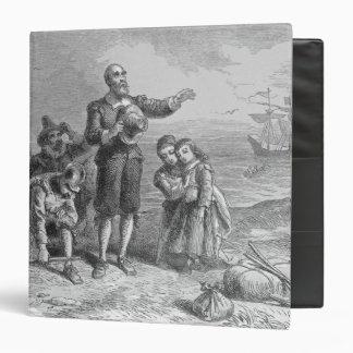 Landing of the Pilgrims, 1620 3 Ring Binder