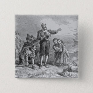 Landing of the Pilgrims, 1620 Button