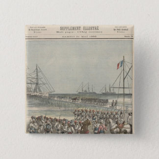 Landing of the Senegalese Troops at the New Wharf Pinback Button