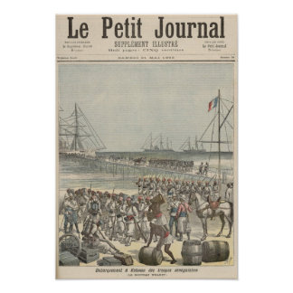 Landing of the Senegalese Troops at the New Wharf Poster