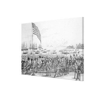 Landing of the Troops at Vera Cruz, Mexico Canvas Print