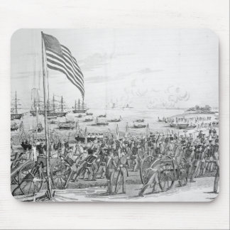 Landing of the Troops at Vera Cruz, Mexico Mouse Pad