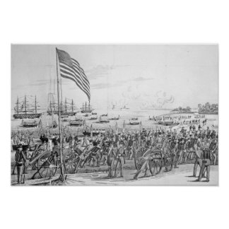 Landing of the Troops at Vera Cruz, Mexico Poster