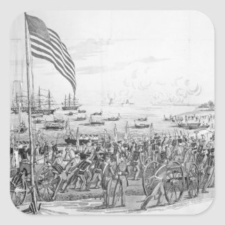 Landing of the Troops at Vera Cruz, Mexico Square Sticker