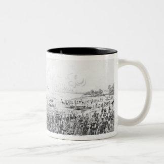 Landing of the Troops at Vera Cruz, Mexico Two-Tone Coffee Mug