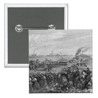 Landing of troops on Roanoke Island Pinback Button