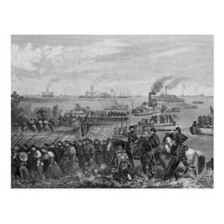 Landing of troops on Roanoke Island Postcard