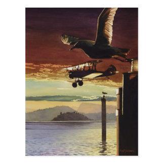 Landing Patterns Watercolor Art Postcard