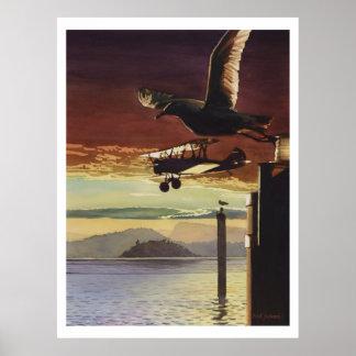 """Landing Patterns"" Watercolor Art Poster"