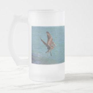 Landing Pelican 16 Oz Frosted Glass Beer Mug