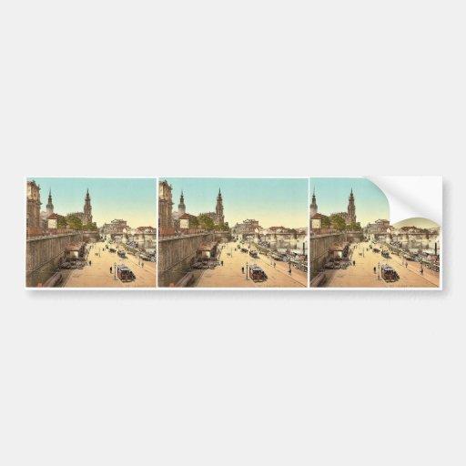 Landing-place for steamers, Altstadt, Dresden, Sax Bumper Stickers