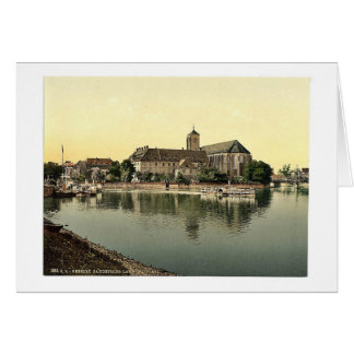 Landing place, Sand Church, Breslau, Silesia, Germ Greeting Card