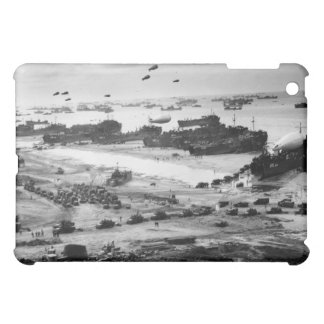 Landing Ships Putting Cargo Ashore on Omaha Beach Case For The iPad Mini