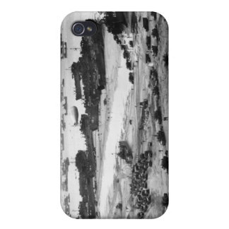 Landing Ships Putting Cargo Ashore on Omaha Beach Cover For iPhone 4