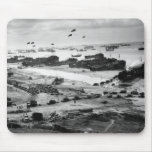 Landing Ships Putting Cargo Ashore on Omaha Beach Mousepad