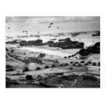 Landing Ships Putting Cargo Ashore on Omaha Beach Postcard