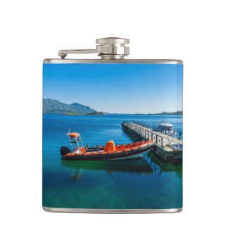 Landing stag and speed boat hip flask