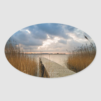 Landing stage on a lake sticker