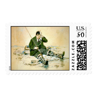 Landing the Big One 1916 Postage