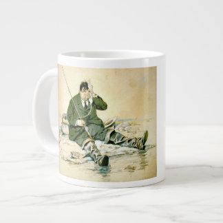 Landing the Big One 1916 20 Oz Large Ceramic Coffee Mug