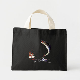 Landing The Big One Tiny Tote Bag