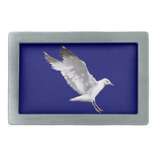 Landing White Sea Gull Wildlife Birdlover Gift Belt Buckle
