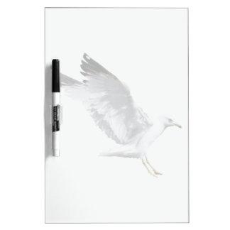Landing White Sea Gull Wildlife Birdlover Gift Dry-Erase Board