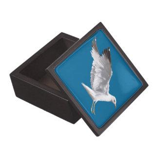 Landing White Sea Gull Wildlife Birdlover Gift Gift Box